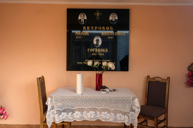 Pictures of deceased people are seen inside a chapel at a cemetery in the village of Smoljinac, Serbia, October 25, 2016. (Photo by Marko Djurica/Reuters)