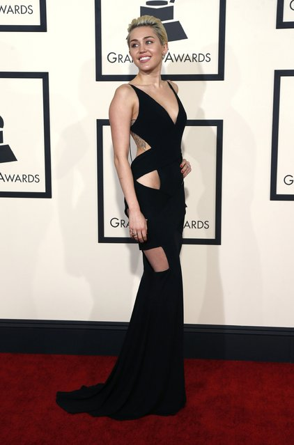 Singer Miley Cyrus arrives at the 57th annual Grammy Awards in Los Angeles, California February 8, 2015. (Photo by Mario Anzuoni/Reuters)