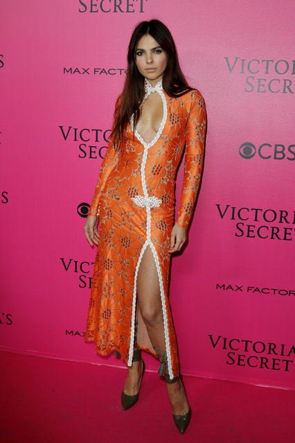 Doina Ciobanu poses during a photocall before the 2016 Victoria's Secret Fashion Show at the Grand Palais in Paris, France, November 30, 2016. (Photo by Benoit Tessier/Reuters)