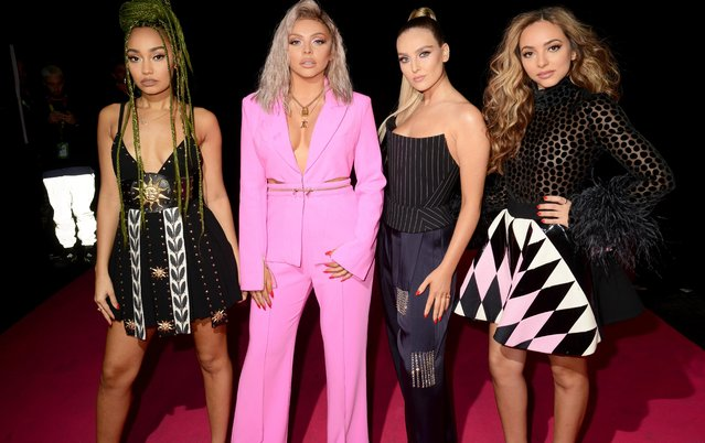 (L-R) Leigh-Anne Pinnock, Jesy Nelson, Perrie Edwards and Jade Thirlwall of Little Mix attend the MTV EMAs 2018 at the Bilbao Exhibition Centre (BEC) on November 04, 2018 in Bilbao, Spain. (Photo by Dave J. Hogan/Getty Images for MTV)
