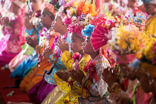 Tai Yai boys take part in a ceremony during the Poy Sang Long Festival on April 1, 2015 in Mae Hong Son, Thailand. (Photo by Taylor Weidman/Getty Images)