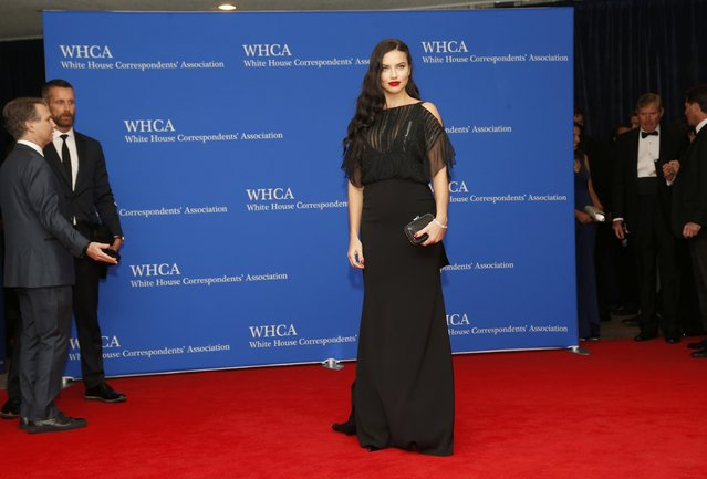 Model Adriana Lima arrives for the annual White House Correspondents' Association dinner in Washington April 25, 2015. (Photo by Jonathan Ernst/Reuters)