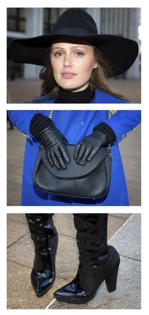 Charlotte Bridgeman poses for a series of triptych portraits during New York Fashion Week February 6, 2014. Bridgeman, from Australia, is attending her second fashion week. (Photo by Carlo Allegri/Reuters)