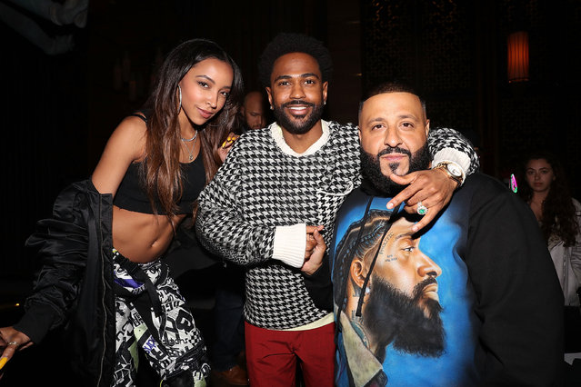 Tinashe, Big Sean and Dj Khaled attend DJ Khaled Album Release Dinner at TAO on May 18, 2019 in New York City. (Photo by Shareif Ziyadat/Getty Images)