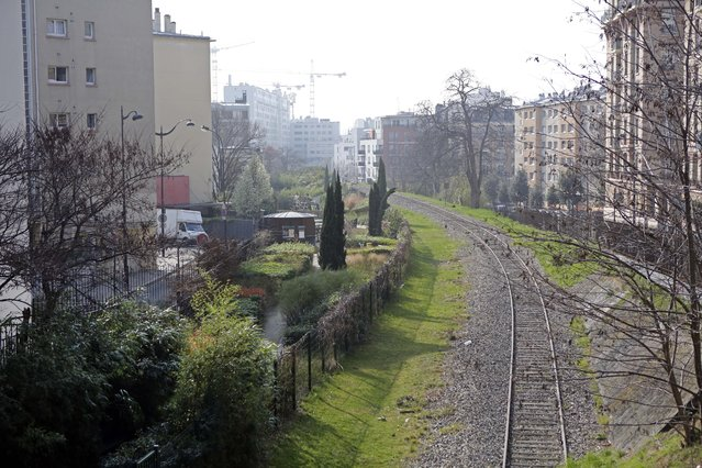 La Petite Ceinture, or the Little Belt, an abandoned railway from the 19th century, now ramshackle and overgrown is pictured Friday March 14, 2014. The Paris mayor's race will give the city a new leader for the first time in 13 years and is offering a chance to reimagine one of the world's top tourist destinations. Both candidates for Paris Mayor, Anne Hidalgo and Nathalie Kosciusko-Morizet, want to improve access to green spaces in Paris, where parks and playgrounds are rare in some neighborhoods and gardens tend to the formal. (Photo by AP Photo/Remy de la Mauviniere)