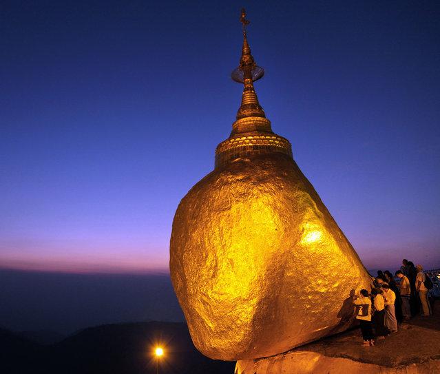 Kyaiktiyo Pagoda AKA  Golden Rock In Burma
