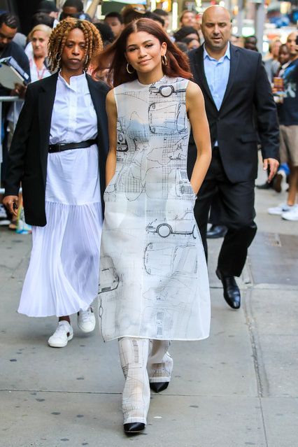 """Zendaya is seen at """"Good Morning America"""" on June 24, 2019 in New York City. (Photo by Say Cheese!/GC Images)"""