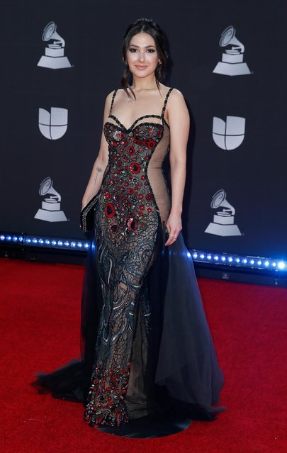 Nella attends the 20th annual Latin GRAMMY Awards at MGM Grand Garden Arena on November 14, 2019 in Las Vegas, Nevada. (Photo by Danny Moloshok/Reuters)