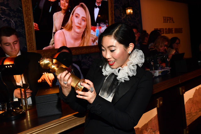 Awkwafina, who won best actress in a motion picture musical or comedy for The Farewell, at the Golden Globes official afterparty at The Beverly Hilton Hotel on January 05, 2020 in Beverly Hills, California. (Photo by  Michael Buckner/Variety/Rex Features/Shutterstock)