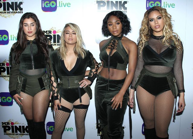 Girl Group Fifth Harmony arrives for the iGo.live Launch Event at the Beverly Wilshire Four Seasons Hotel on July 26, 2017 in Beverly Hills, California. (Photo by Splash news and Pictures)