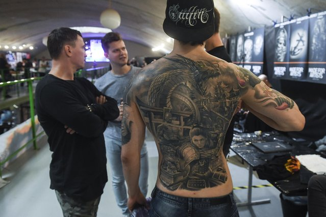 The 6th Siberian Tattoo Festival at Podzemka Loft Park in Novosibirsk, Russia on August 20, 2017. (Photo by Kirill Kukhmar/TASS)