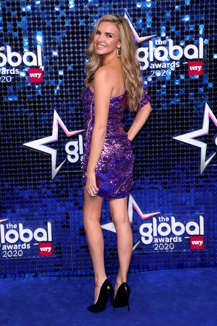 Nadine Coyle attends The Global Awards 2020 with Very.co.uk at London's Eventim Apollo Hammersmith on March 5, 2020. (Photo by Lia Toby/PA Images via Getty Images)
