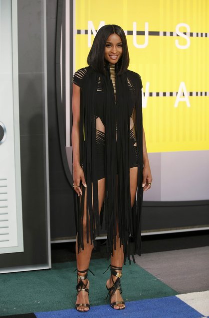 Singer Ciara arrives at the 2015 MTV Video Music Awards in Los Angeles, California, August 30, 2015. (Photo by Danny Moloshok/Reuters)