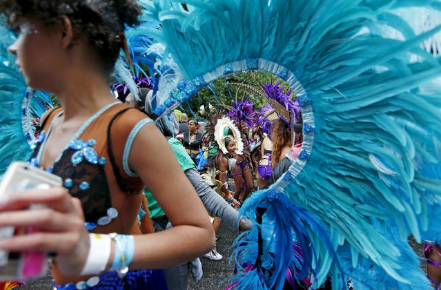 Performers dance at the Notting Hill Carnival in west London, August 31, 2015. (Photo by Eddie Keogh/Reuters)