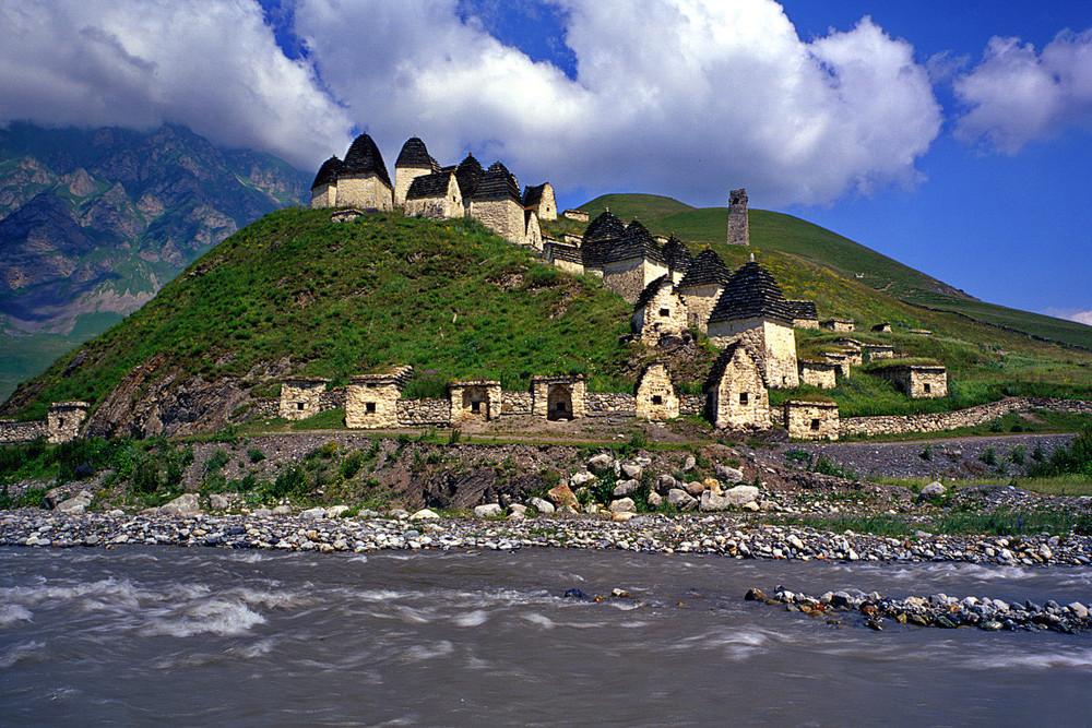 City Of The Dead In Dargavs, North Ossetia