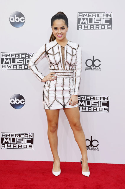 Singer Becky G arrives at the 42nd American Music Awards in Los Angeles. (Photo by Danny Moloshok/Reuters)