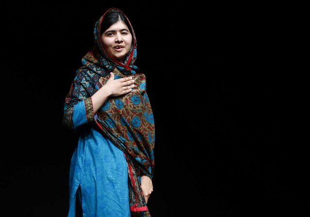Pakistani schoolgirl Malala Yousafzai, the joint winner of the Nobel Peace Prize, speaks at Birmingham library in Birmingham, central England, in this October 10, 2014 file photo. (Photo by Darren Staples/Reuters)