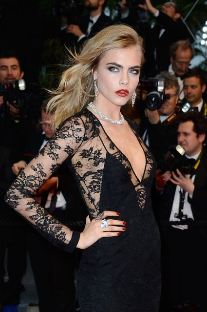 """Cara Delevingne attends the Opening Ceremony and """"The Great Gatsby"""" Premiere during the 66th Annual Cannes Film Festival at the Theatre Lumiere on May 15, 2013 in Cannes, France. (Photo by Vittorio Zunino Celotto/Getty Images)"""