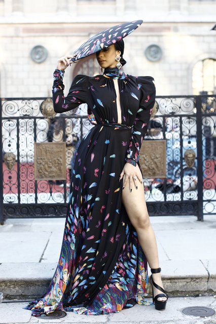 Cardi B arrives to the ETAM fashion show in Paris, France on September 25, 2018. (Photo by Splash News and Pictures)