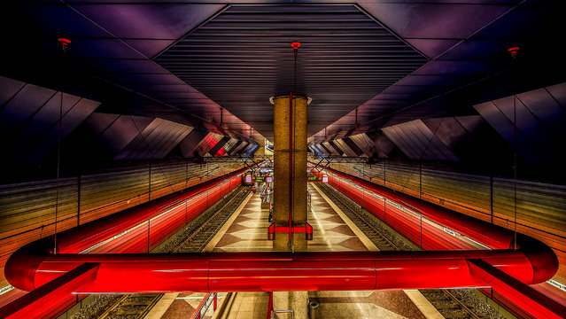 """Underground"". Subway station at main station in Duisburg, Germany. (Photo by Holger Schmidtke (Germany)/2014 Sony World Photography Awards)"