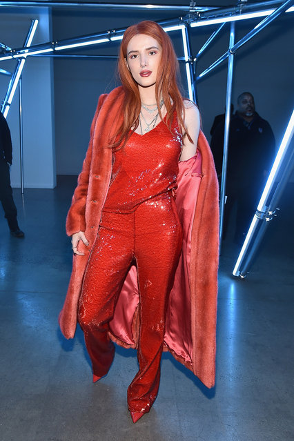 Bella Thorne attends the Sally LaPointe front row during New York Fashion Week: The Shows at Gallery I at Spring Studios on February 12, 2019 in New York City. (Photo by Theo Wargo/Getty Images for NYFW: The Shows)