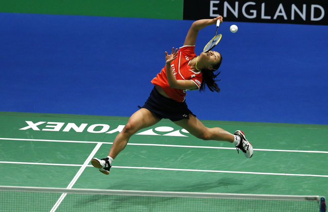 Badminton, Yonex All England Open Badminton Championships, Barclaycard Arena, Birmingham March 12, 2016: Japan's Nozomi Okuhara during the semi finals of the women's singles. (Photo by Andrew Boyers/Reuters/Action Images)