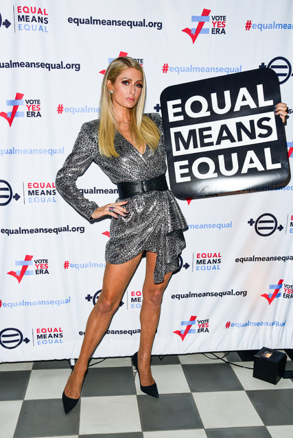 Paris Hilton attends the Equal Means Equal event at Paradise Club at the Times Square Edition on May 21, 2019 in New York City. (Photo by Aurora Rose/Patrick McMullan via Getty Images)