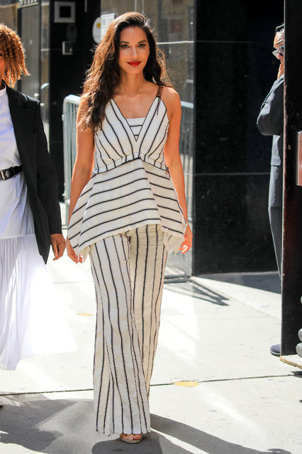 """Olivia Munn is seen at """"Good Morning America"""" on June 24, 2019 in New York City. (Photo by Say Cheese!/GC Images)"""