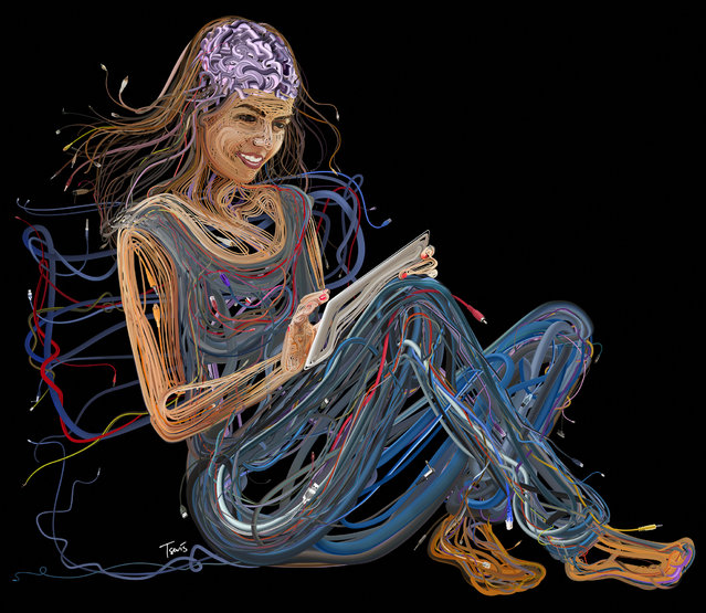 """""""Wired nerves for Harrison & Star marketing agency"""". (Photo by Charis Tsevis)"""
