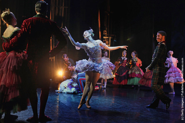 Dancers from the Scottish Ballet perform during a dress rehearsal for their current production of 'Sleeping Beauty' at the Theatre Royal