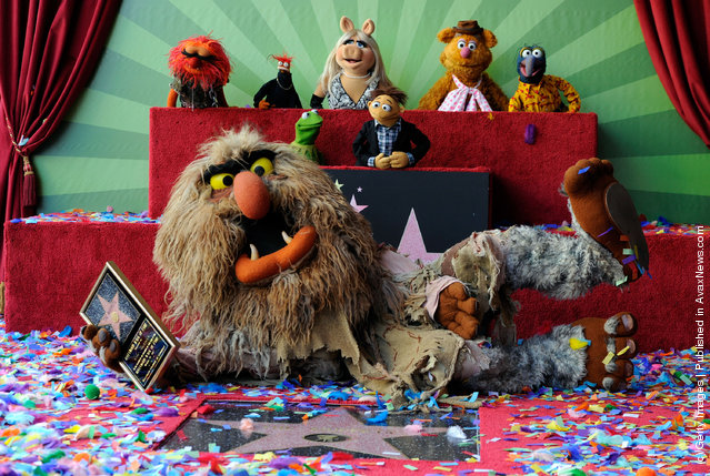 The Muppets who were honored with 2,466th Star on the Hollywood Walk of Fame in front of the El Capitan Theatre on March 20, 2012
