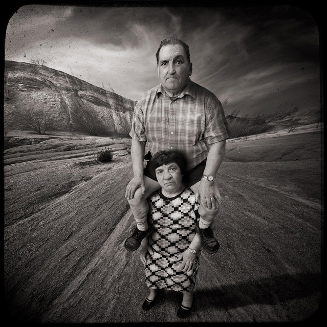 Learning to fly with my pretty wife. Photo Art by Yves Lecoq