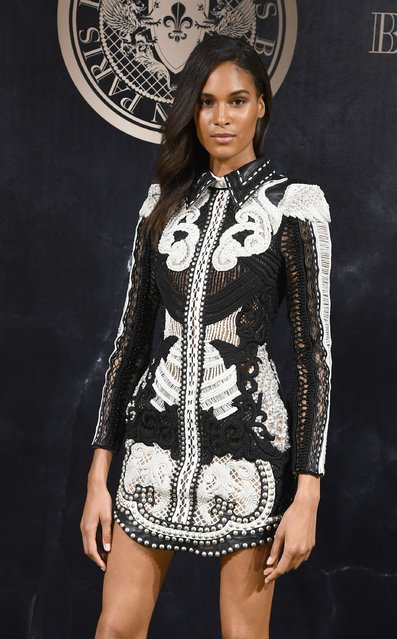 Cindy Bruna attends the L'Oreal Paris X Balmain event  as part of the Paris Fashion Week Womenswear  Spring/Summer 2018 on September 28, 2017 in Paris, France. (Photo by Pascal Le Segretain/Getty Images)
