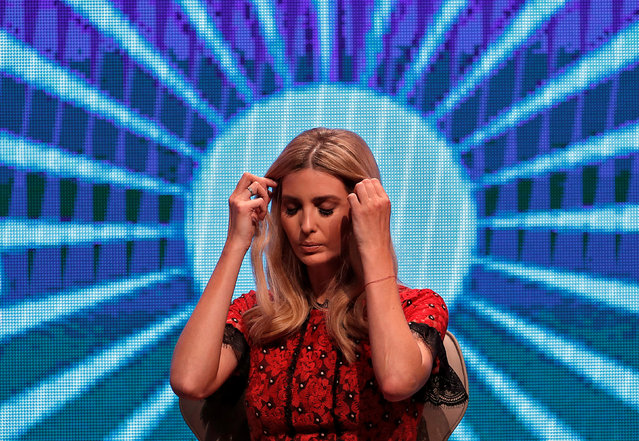 Ivanka Trump, daughter of U.S. President Donald Trump, during the Global Entrepreneurship Summit (GES) in Hyderabad, November 29, 2017. (Photo by Cathal McNaughton/Reuters)