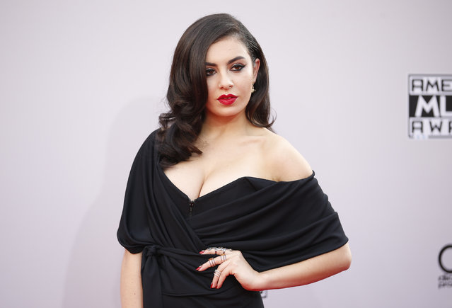 Singer Charli XCX arrives at the 42nd American Music Awards in Los Angeles. (Photo by Danny Moloshok/Reuters)
