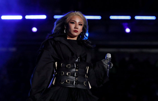 South Korean singer CL performs during the closing ceremony of the PyeongChang Winter Olympic Games at the Olympic Stadium in Pyeongchang, South Korea, on February 25, 2018. (Photo by John Sibley/Reuters)