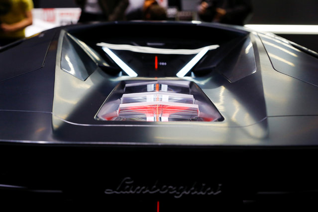 Lamborghini Terzo Millennio concept car is presented during the press day at the 88th Geneva International Motor Show in Geneva, Switzerland on Tuesday, March 6, 2018. (Photo by Denis Balibouse/Reuters)