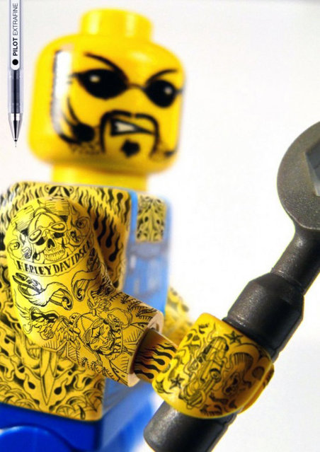 LEGO Tattoo By Pilot Extra-Fine
