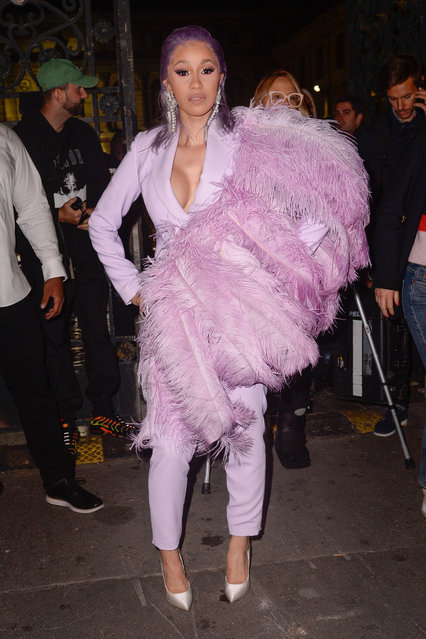 Stars attended the ETAM Fashion Show during Paris Fashion Week Womenswear Spring – Summer 2019 held in Paris, France on September 25, 2018. Pictured: Cardi B. (Photo by Splash News and Pictures)