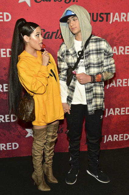 Jenna Ortega (L) and Asher Angel attend Just Jared's 7th Annual Halloween Party at Goya Studios on October 27, 2018 in Los Angeles, California. (Photo by Rodin Eckenroth/Getty Images)