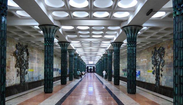 A station of the Tashkent Metro in Uzbekistan, August 9, 2018. (Photo by Amos Chapple/Radio Free Europe/Radio Liberty)