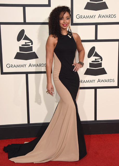 Mya arrives at the 58th annual Grammy Awards at the Staples Center on Monday, February 15, 2016, in Los Angeles. (Photo by Jordan Strauss/Invision/AP Photo)