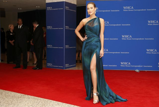 Model Hannah Davis arrives for the annual White House Correspondents' Association dinner in Washington April 25, 2015. (Photo by Jonathan Ernst/Reuters)