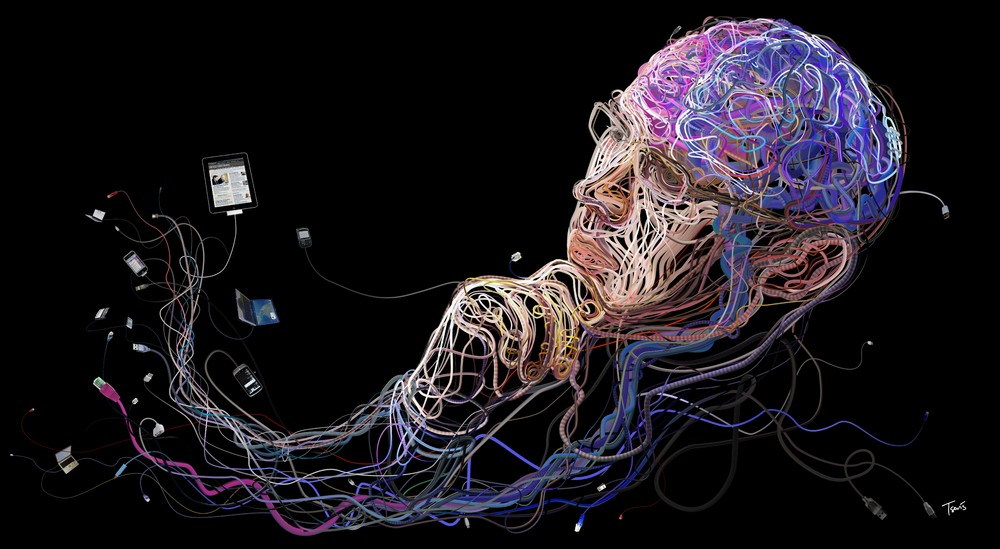 """""""It's a Wired World..."""" – Illustrations Made from Wires"""