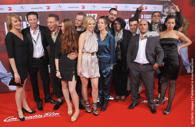 Cast, crew and family attend the 'Blutzbruedaz' premiere at CineStar Sony Center