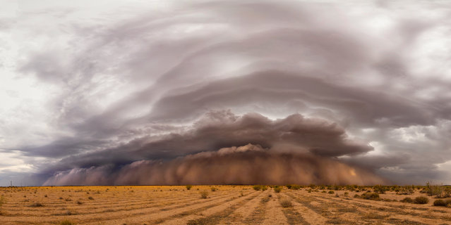 """Apocalyptic"". Kevin Juberg was shortlisted for this panoramic view of one of the largest haboobs (durst storm) on record in Arizona, US. (Photo by Kevin Juberg/2019 Weather Photographer of the Year/RMetS)"