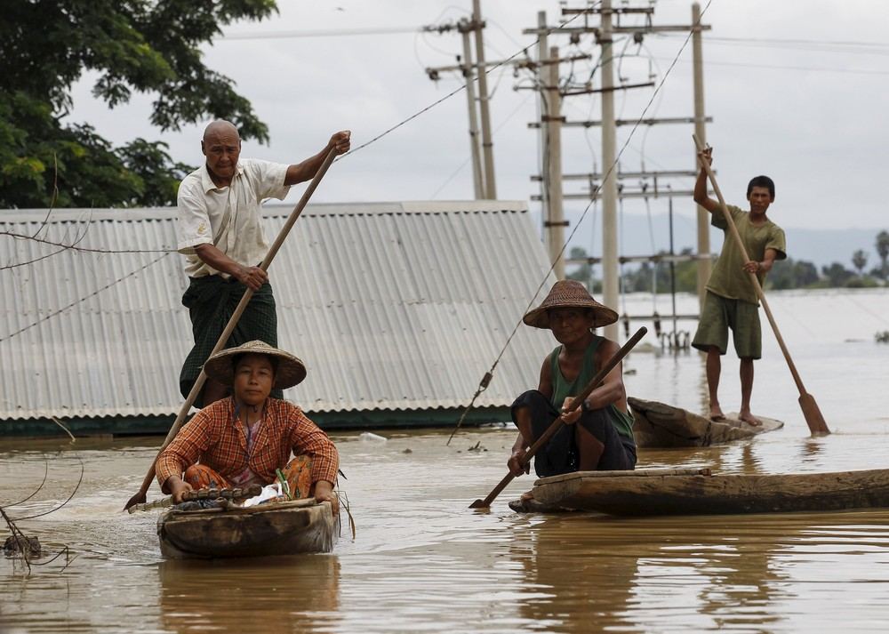 Record Rainfall Causes Flooding in Myanmar