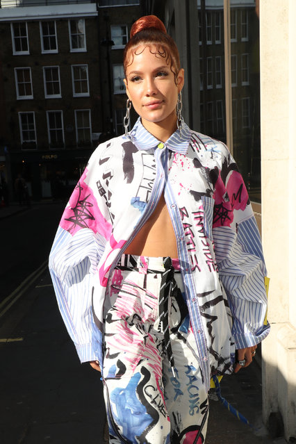 Halsey arrives at KISS Breakfast Radio Studios on November 07, 2019 in London, England. (Photo by Neil Mockford/GC Images)