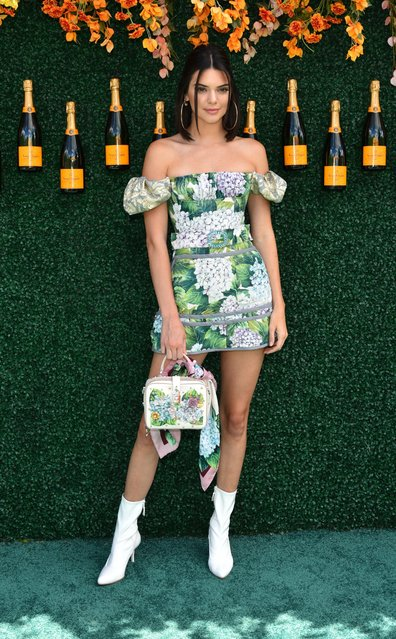 Kendall Jenner attends The Tenth Annual Veuve Clicquot Polo Classic – Arrivals at Liberty State Park on June 3, 2017 in Jersey City, New Jersey. (Photo by Erik Pendzich/Rex Features/Shutterstock)