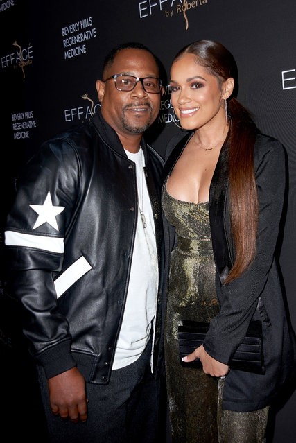 Comedian Martin Lawrence with fiancé Roberta Moradfar attend the grand opening of Roberta Moradfar's Efface Aesthetics at Efface By Roberta on December 12, 2019 in Santa Monica, California. (Photo by Unique Nicole/Getty Images)